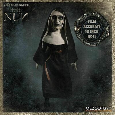 "Conjuring Universe The Nun Figure Mezco Toyz Horror 18"" Doll 7EB2zx1 90580"