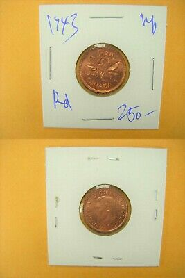 3222 Canada 1943 1c BU Flawless TOP Red