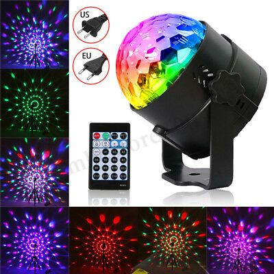 LED RGB Sound Active Stage Light Crystal Ball Disco Xmas Club DJ Party +  !