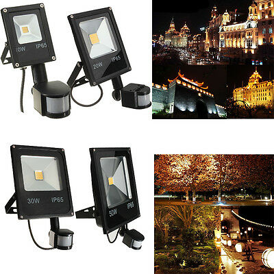 10W 20W 30W 50W PIR Motion Sensor LED Flood Light Outdoor Garden Lamp
