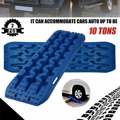 2x Blue Car Recovery Tracks Sand Track 10T Sand Snow Mud Trax Offroad Ladder 4WD