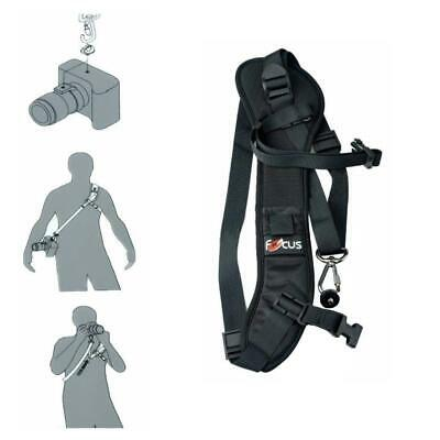 Focus F-1 Quick Rapid Sling Belt Neck Shoulder-Strap For DSLR-SLR Camera Black