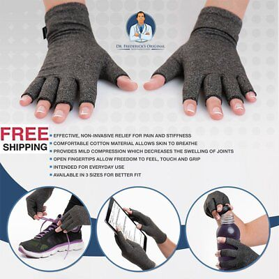 Arthritis Gloves Compression Joint Finger Pain Relief Hand Wrist Support fM