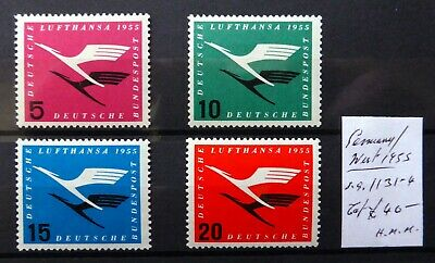 GERMANY WEST 1955 Airmails As Described NQ485