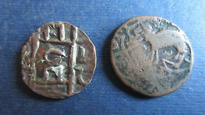 Two Unbestimmte Old Coins, Possibly Eine Persian? (18Q97)