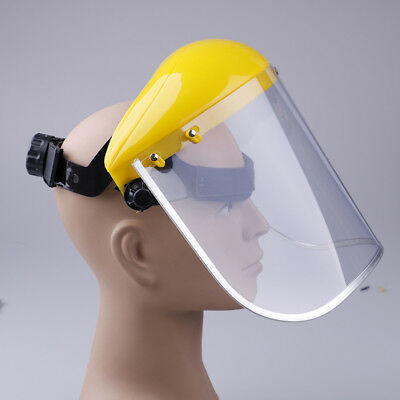 Yellow clear safety face shield screen mask for visors eye face protection   DI