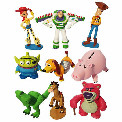 9pcs/Set Kids Gifts Disney Toy Story 3 Heroes Figurine Figures Cake Toppers Play