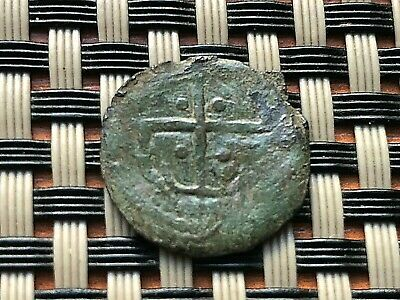 Ancient Byzantine Medieval Coin With Cross Unknown.
