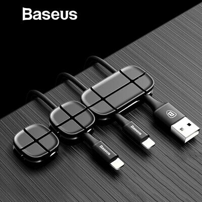 Baseus Cable Organizer USB Charge Cable Management Paste Winder Clips Cord