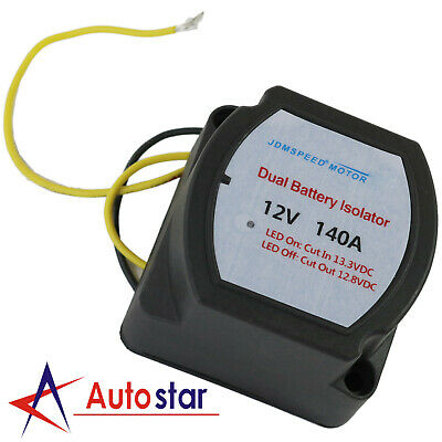 12V 140A Smart Dual Battery Isolator Voltage Sensitive Relay (VSR) Pro