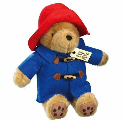 "Classic Cuddly Paddington Bear Plush Soft Toy Blue Coat Red Hat - 12"" Rainbow"