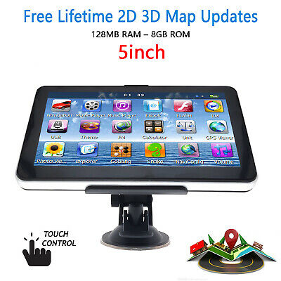 "5"" Truck Car Navigation GPS Navigator Sat Nav 8GB AU EU Lifetime Map Speedcam AU"