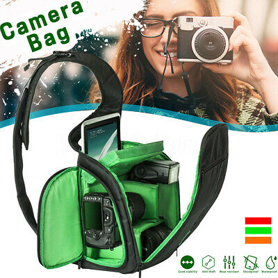 DSLR Waterproof Shoulder Bag Pouch Travel Carrying Case For Canon Nikon Camera