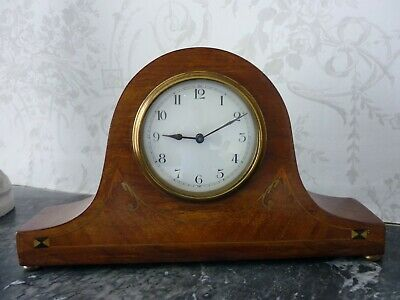Antique Edwardian Mahogany Mantle Clock.8 Day Gwo.