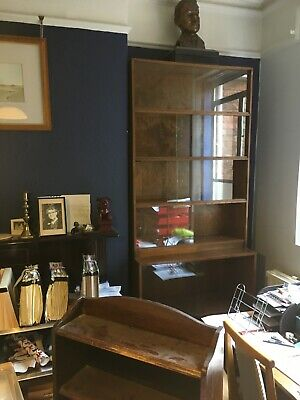 "Pair Vintage Retro Oak Stacking Lawyers Bookcases Phoenix Of Charing Cross 90"" h"