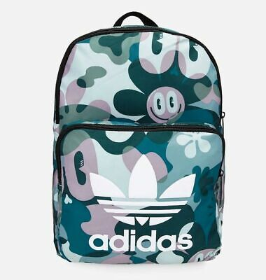 15448ee6dd ADIDAS ORIGINALS BACKPACK Large Washed Effect PU Leather Embossed ...