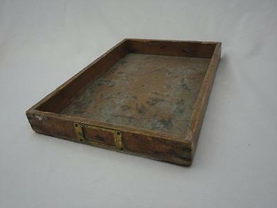 Vintage Wooden Tray Label Insert Collectable A W