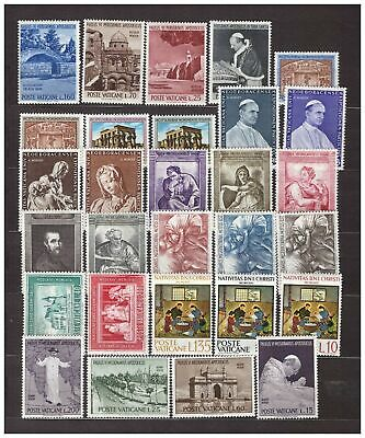 s31856) VATICANO MNH** 1964 Complete Year set 29v