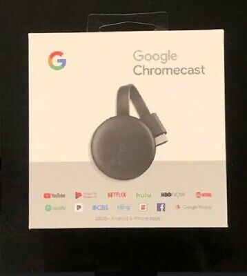 Google Chromecast 3rd Gen Digital HDMI (2018 NEWEST VERSION)-Sealed Box