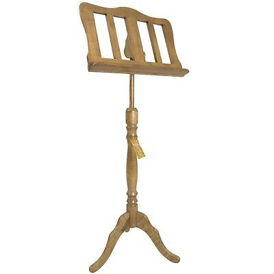 Theodore Baroque Style Oak Wooden Music Stand
