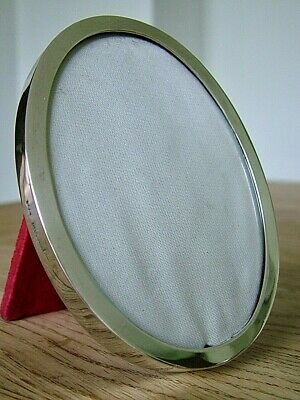 """VINTAGE 3.5"""" x 2.5"""" ENGLISH HM1973 SOLID SILVER PHOTO OVAL PICTURE FRAME"""