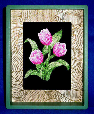 Garden Time Tulip - Framed Embroidery