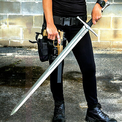 """43 1/2"""" Broadsword w/Scabbard 1060 HIGH CARBON STEEL BLADE Medieval Viking NEW"""