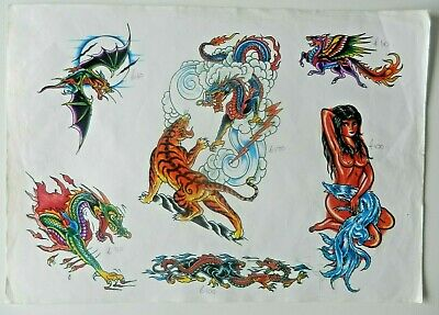 vintage shop used tattoo flash PINKY YUN not machine