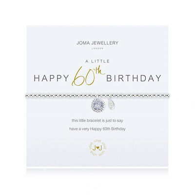 a little 60th Birthday bracelet Silver Plated Joma Jewellery Gift Bag & Tag