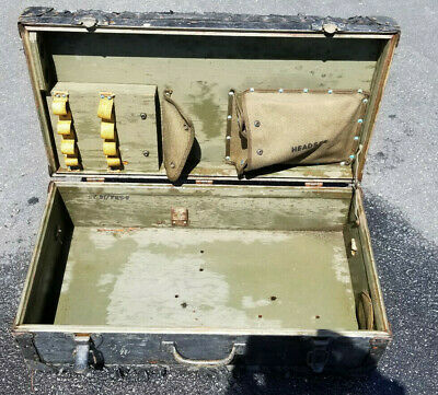 Vintage WW2 US Army Signal Corps AN/PRS 1 Mine Detector Case Trunk