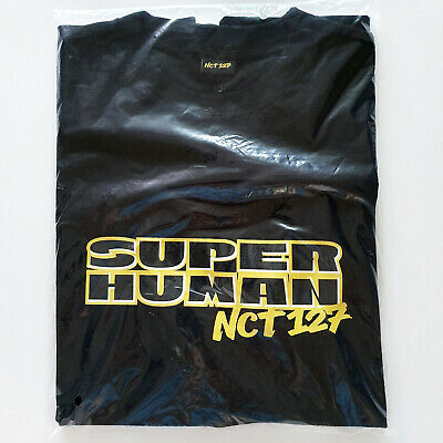 NCT127 the 4th Mini Album [We Are Superhuman] Official Goods : Black T-Shirts