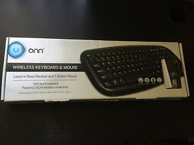 c01c8f24683 Onn Wireless Keyboard Optical LS6400R and Mouse Nano USB Receiver Combo  2.4GHz