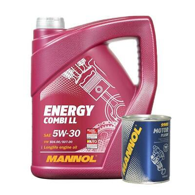 MANNOL Combi LL 5W30  Fully Synthetic Longlife Engine oil 5L + Free Engine Flush