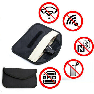 Large Car Key Signal Blocker Case Faraday Cage Pouch Keyless RFID Blocking Bag