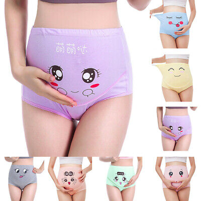 Womens Maternity High-waist Brief Maternity Underpants Pregnant Cotton Underwear