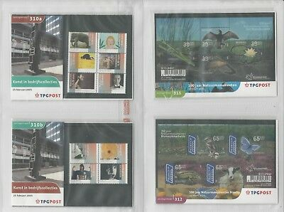 Netherlands Davo PTT Album, Mint NH Stamps & Sets, 12 Hingless Pages, 2005-06