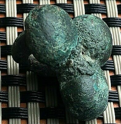 "Ancient Celtic Bronze Proto Money ""Coin"" Circa 400 Bc Very Rare And Scarce"