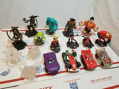 Disney Infinity Cars, Incredibles, Monster inc  17 Figures Characters Large Lot