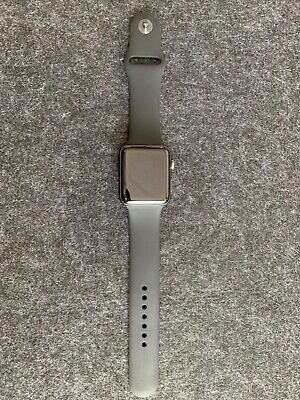 Apple Watch Series 3 42mm Space Gray Aluminum Case Black Sport Band (GPS) -...