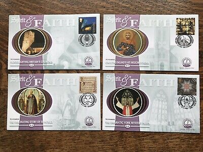 Gb Benham Fdc 2000 Set Of 4, Spirit And Faith