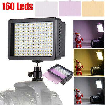 VBESTLIFE 160 LED Video Light Lamp Photo Studio Wedding Party for DSLR Camera CO