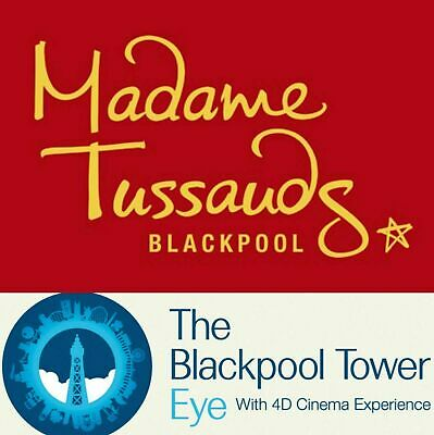 4 X Blackpool Tower Eye & Madame Tussauds Tickets For Sun 11Th August Bargain!!