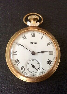 Antique Vintage SMITHS Pocket Watch,Rolled Gold Case,Running,Art Deco,British.