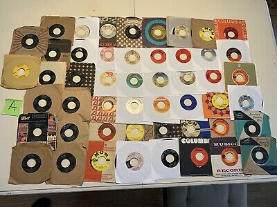 45RPM records Lot Of 50 Pop, Rock, Funk, Soul, Jazz See Pics For Titles Sleeved