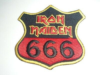 Iron Maiden 666 Iron On Embroidered Patch
