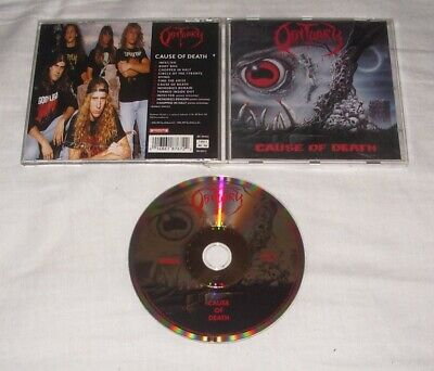 OBITUARY - Cause Of Death CD Remaster Gold ORG Roadrunner Records 1997
