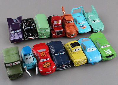 Nouveau PIXAR CARS Lightning McQueen Mater Figures Sally Luigi 14PCS / set Toy