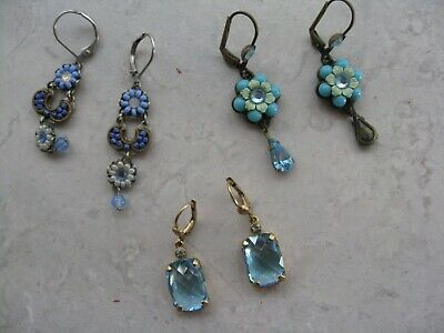 Vintage Lot of 3 pair Earrings for Pierced Ears Gorgeous
