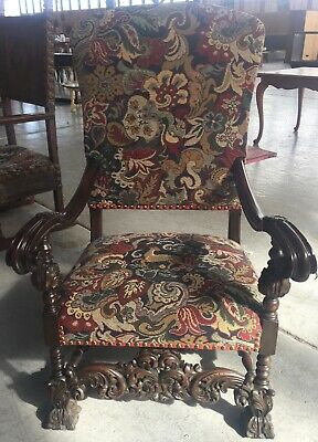 Antique French Style Throne Chair Circa 1900