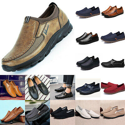 Men's Driving Moccasins Slip On Loafers Sneakers Leather Casual Synthetic Shoes